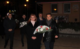 Petőfi Sándor születési évfordulója alkalmából rendezett koszorúzási ünnepség községünkben