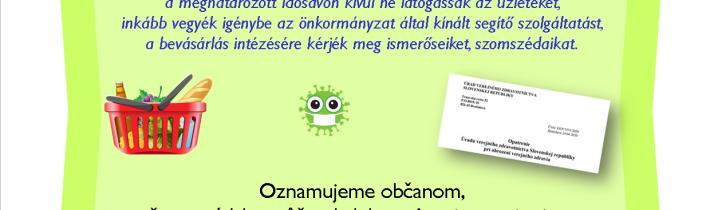 Koronavírus: vásárlási idősáv kérdése