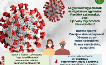 Koronavírus: Viseljünk szájmaszkot!