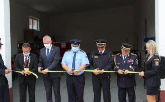 A felújított tűzoltószertár ünnepélyes átadása